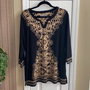 JM Collection dressy tunic top